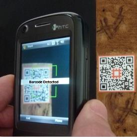Scanning waypost QR codes